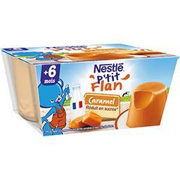 Nestlé Nestlé Bébé P'tit flan caramel, 6+ mois les 4 pots de 100 g