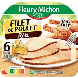 Fleury Michon Fleury Michon Filet de poulet rôti la barquette de 6 tranches - 160 g