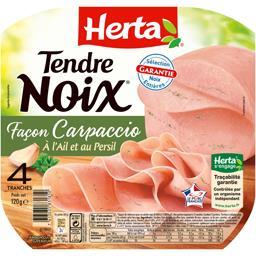 Tendre Noix - Jambon façon Carpaccio à l'ail et au persil