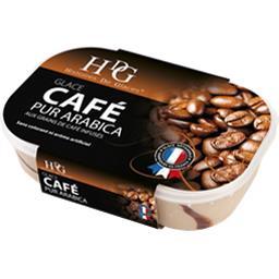 Glace café pur arabica aux grains de café infusés
