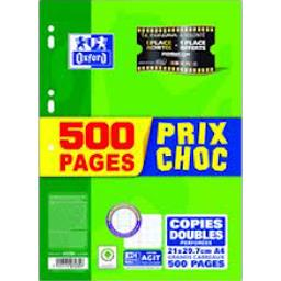 Copies doubles perforées, petits carreaux - 21X29,7cm - A4