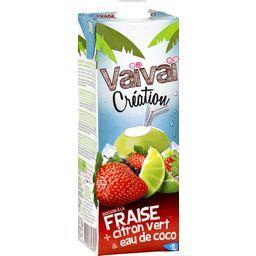 Jus de fruits fraise citron eau de coco Vaïvaï