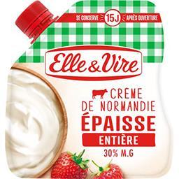 Elle & Vire Elle & Vire Crème de Normandie épaisse entière la poche de 324 g