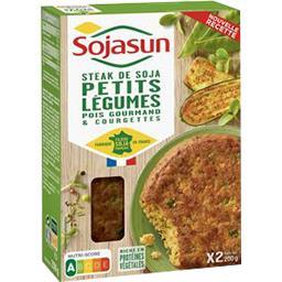 Sojasun Sojasun Steaks soja petits légumes+ sauce végétale ciboulette-persil les 2 steaks de 100 g
