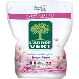 Lessive liquide sans allergènes, senteur florale