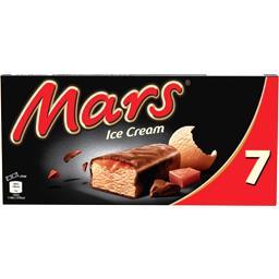 Mars Mars Barres glacées caramel chocolat au lait les 7 barres de 51 ml