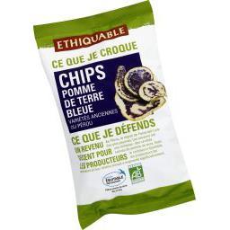 Chips de pomme de terre bleu BIO