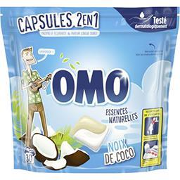 Omo Omo Capsules de lessive liquide 2 en 1 Rêve de coco les 30 capsules - 723 g