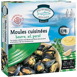 Moules cuisinées au beurre, ail, persil