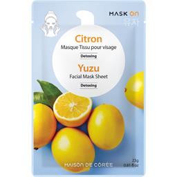 Maison de Corée Masque visage detoxing citron le sachet de 23 g