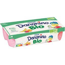 Danone Danone Danonino - Spécialité laitière aux fruits BIO les 8 pots de 50 g