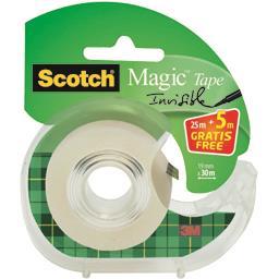 Scotch Brite Scotch Ruban Magic 19 mm x 25 m le dévidoir + ruban