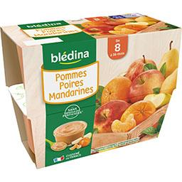 Desserts pommes poires mandarines, de 8 à 36 mois