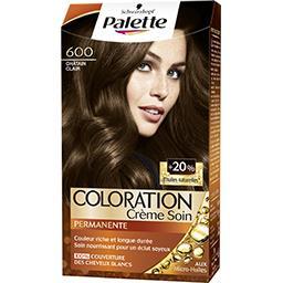 Coloration crème soin châtain clair 600
