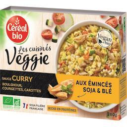 Les Cuisinés Véggie sauce curry aux émincés soja & blé BIO