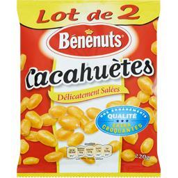 Bénénuts Bénénuts Cacahuètes délicatement salées le lot de 2 sachets de 220 g