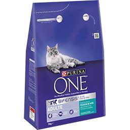Purina One Purina One - Croquettes Bifensis poisson et céréales complètes pour chat le sac de 3 kg