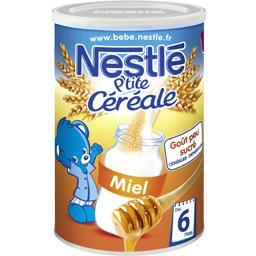Nestlé Nestlé Bébé P'tite Céréale - Céréale miel, 8+ mois la boite de 400 g