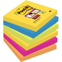 Notes Super Sticky couleurs Rio 76 x 76 mm