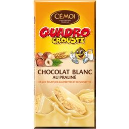 Chocolat blanc Quadro Crousti au praliné