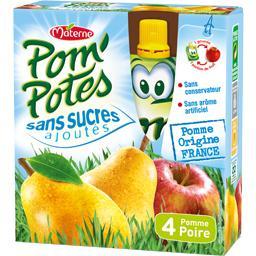Pom'Potes - Compote pomme poire sans sucres ajoutés