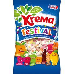 Kréma Kréma L'assortiment de bonbons tendres Festival parfums assortis le sachet de 360 g