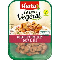 Herta Herta Le Bon Végétal - Bouchées grillées soja & blé la barquette de 175 g