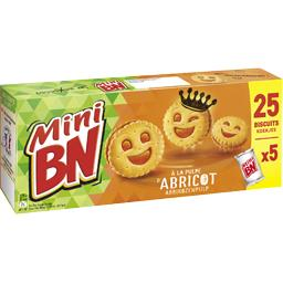 BN Mini biscuits à la pulpe d'abricot la boite de 25 biscuits - 175 g