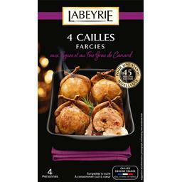 Cailles farcies aux figues et au foie gras de canard