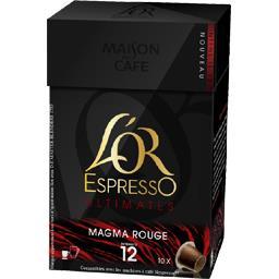 L'Or Espresso - Capsules de café Ultimates Magma rouge 12