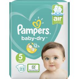 Pampers Baby-dry couches taille 5 (junior) 11-23 kg