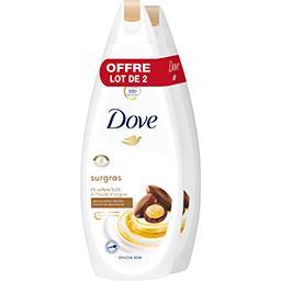 Dove Dove Gel douche surgras huile d'argan le lot de 2 flacons de 750ml