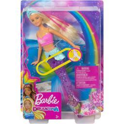 Barbie Barbie Poupée sirène lumières & danse aquatique blonde la poupée