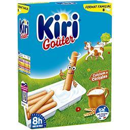Kiri Kiri Goûter - Spécialité fromagère fondue et gressins les 8 barquettes de 35 g - Format Familial