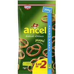 Dr. Oetker Dr. Oetker Ancel - Biscuits apéritif Bretzel d'Alsace Maxi le lot de 2 paquets de 200 g