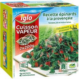 Cuisson Vapeur - Recette épinards à la provençale