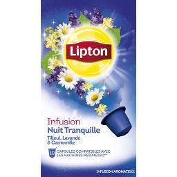 Infusion Nuit Tranquille tilleul, lavande & camomill...
