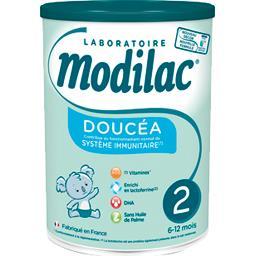 Modilac Modilac Lait de suite en poudre Doucéa 2, de 6-12 mois la boite de 820 g