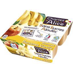 Dessert pommes bananes vanille sans sucres ajoutés