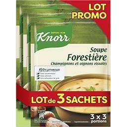 Knorr Knorr Soupe forestière le lot de 3 sachets de 1 l