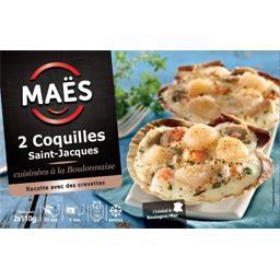 Jacques Maës Coquilles Saint-Jacques cuisinées à la boulonnaise les 2 coquilles de 110 g