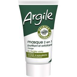 Argile - Masque 2en1 purifiant & exfoliant à l'argil...
