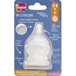 Tétine silicone Multiflow, lait infantile, 0-6m