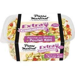 Extra Gourmand - Penne au pesto & poulet rôti