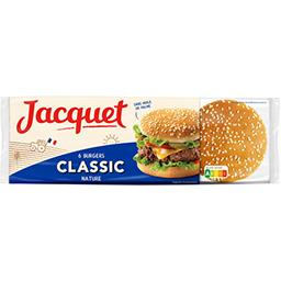 Jacquet Jacquet Pain Classic' Burger nature le paquet de 6 - 330 g