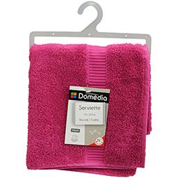 Eponge serviette fuchsia 50*100
