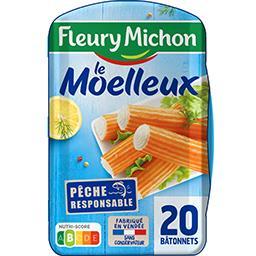 Fleury Michon Fleury Michon Surimi Le Moelleux la boite de 20 bâtonnets - 320 g