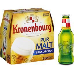Bière blonde aromatisée sans alcool