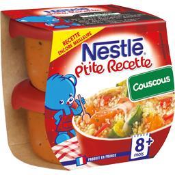 Nestlé Nestlé Bébé P'tite Recette - Couscous, 8+ mois les 2 pots de 200 g