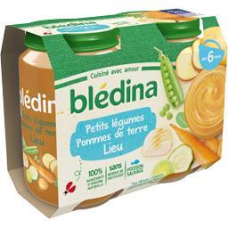 Blédina Blédina Petits légumes pommes de terre colin (lieu) de 6 à 36 mois les 2 pots de 200 g
